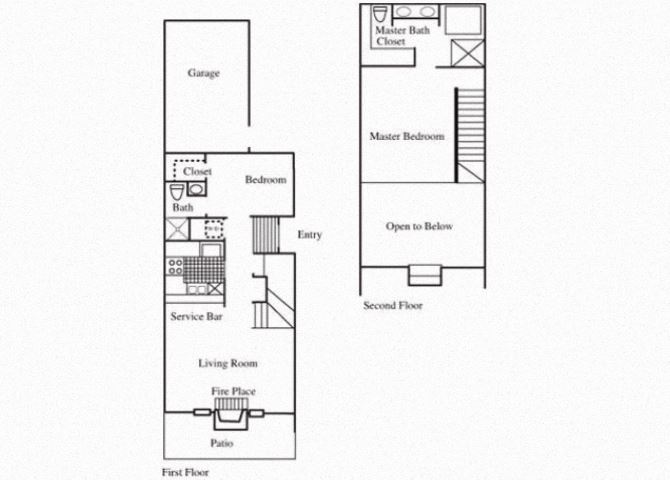 TH1 floorplan at Tivoli Apartments in Dallas, Texas
