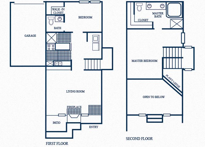 TH3 floorplan at Tivoli Apartments in Dallas, Texas