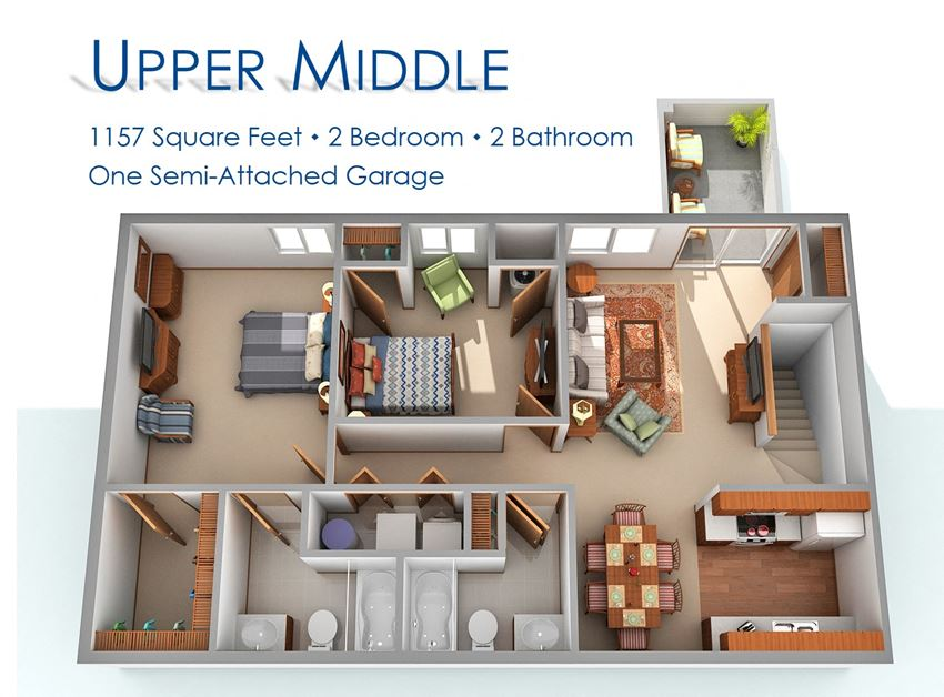 Two Bedroom Upper Middle