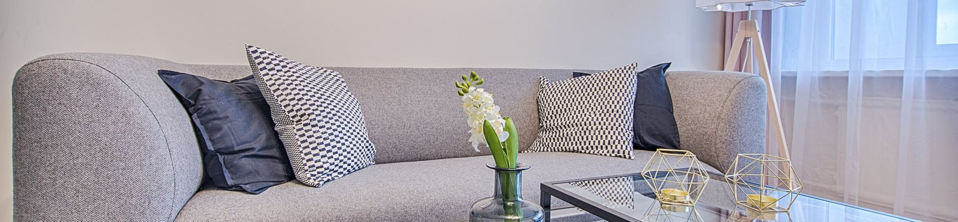 Classic Living Room Design, at Dearborn View Apartments, Inkster