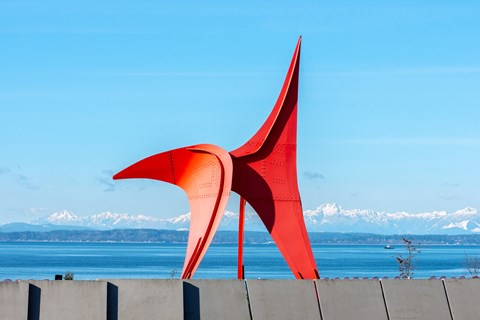 Sculpture Park in Daytime Near 10 Clay Apartments in Seattle, WA
