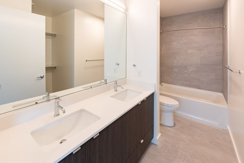 Large Bright Bathroom at 10 Clay Apartments