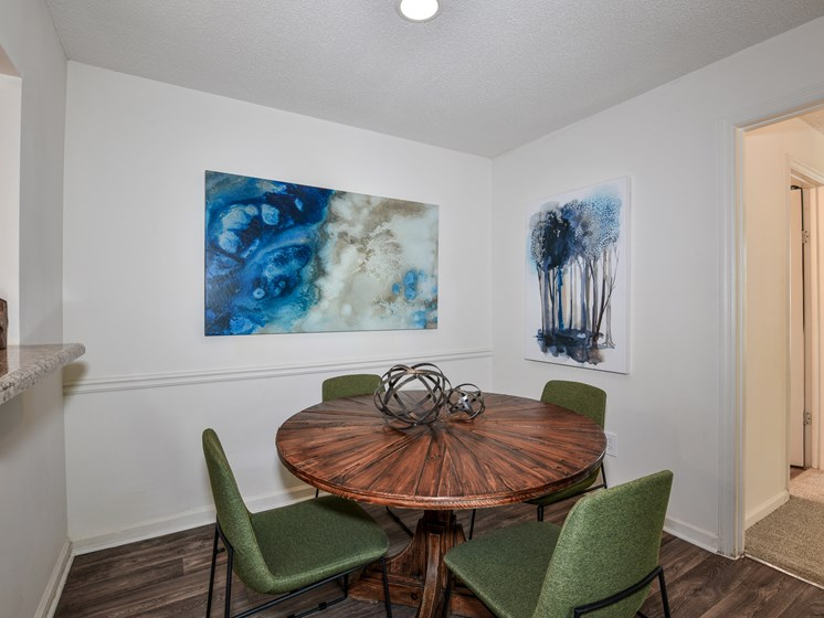 Renovated interiors featuring spacious entertaining spaces at Lakeside at Arbor Place apartment homes in Douglasville, GA 30135