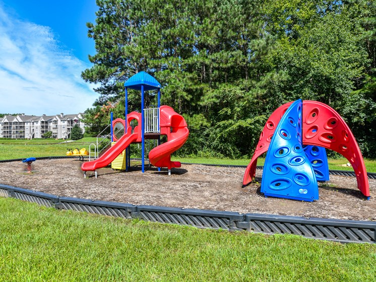 Imaginative play ground at Lakeside at Arbor Place apartment homes in Douglasville, GA 30135