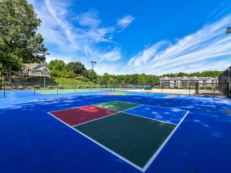 Recreational sport court at Lakeside at Arbor Place apartment homes in Douglasville, GA 30135