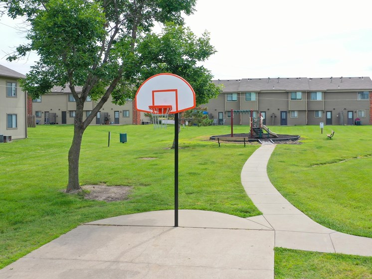 Shoot some hoops on our basketball court in Southwest Topeka, KS!