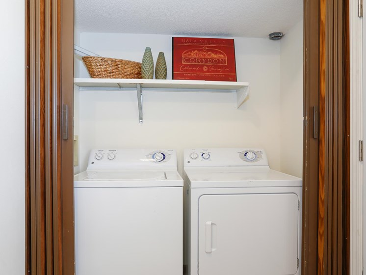 Full-size washer and dryer hookups are found at Villa West!