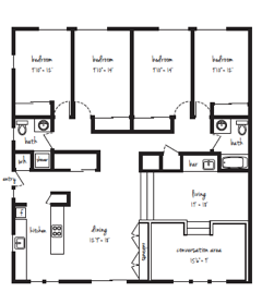 MAY MOVE-IN ONLY 4x2 Flat Standard Individual Lease Program