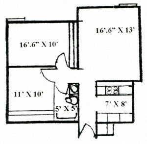2x1 Small Floor Plan 2