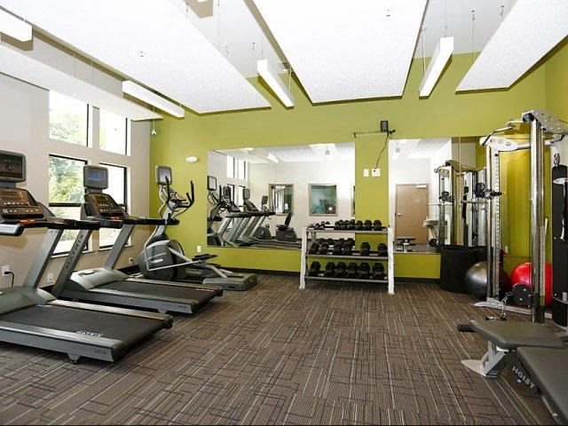 Treadmills And Free Weights In Gym at The George & The Leonard, Atlanta
