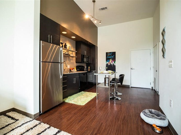 Stainless Steel & Black Appliances In The Kitchen at The George & The Leonard, Atlanta, 30312