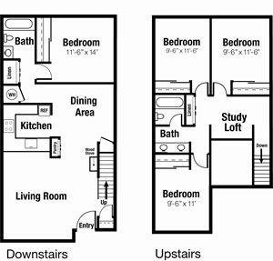SOLD OUT FOR FALL 2018 - 4x2 Townhouse Individual Lease Program