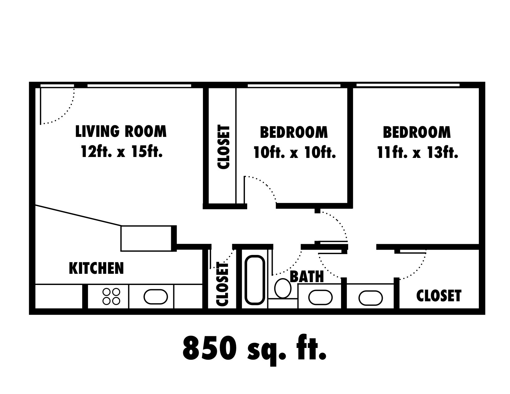 SOLD OUT - 2x1 Cottage Floor Plan 6