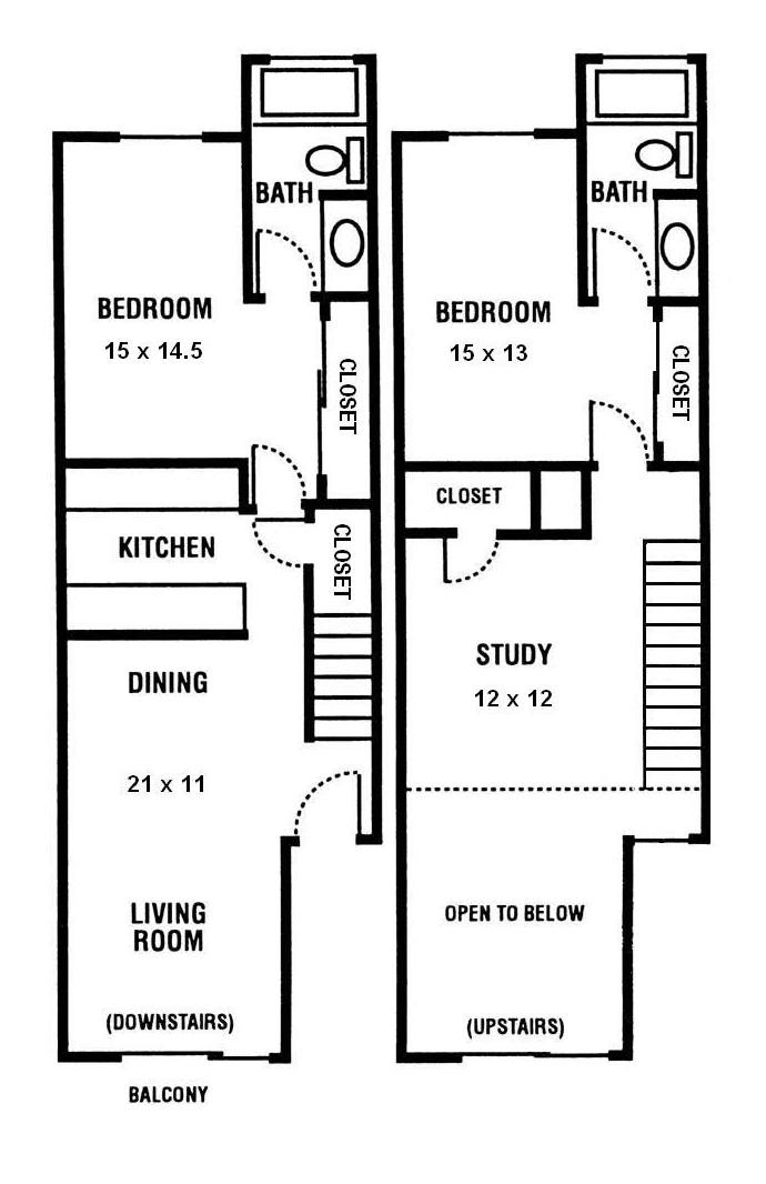 2 Bedroom, 2 Bathroom Townhouse with Loft at Sundance Apartments in Davis, CA, 510 Arthur Street