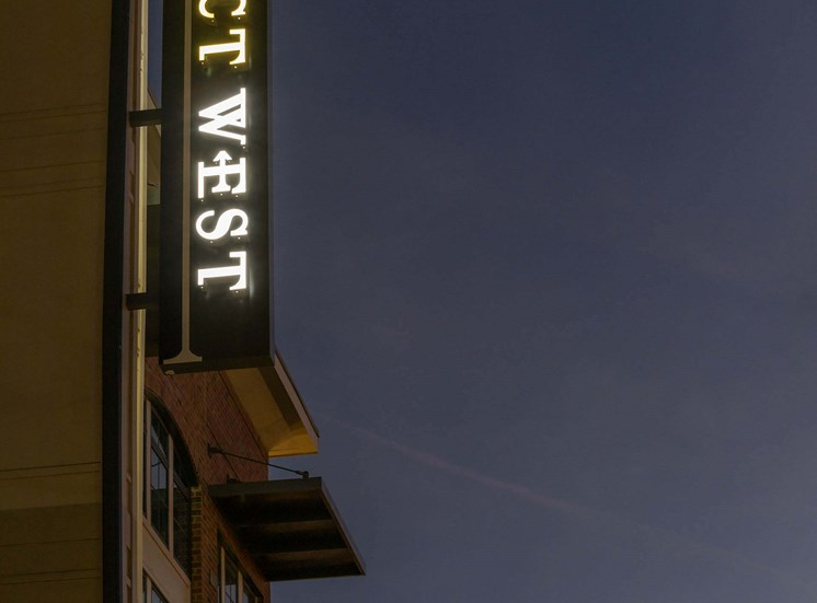 District West street sign.