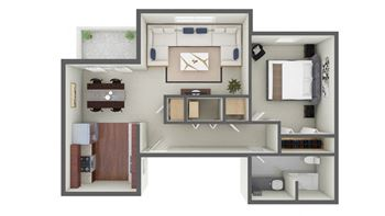 2160 FT Harrods Drive 1 Bed Apartment for Rent Photo Gallery 1