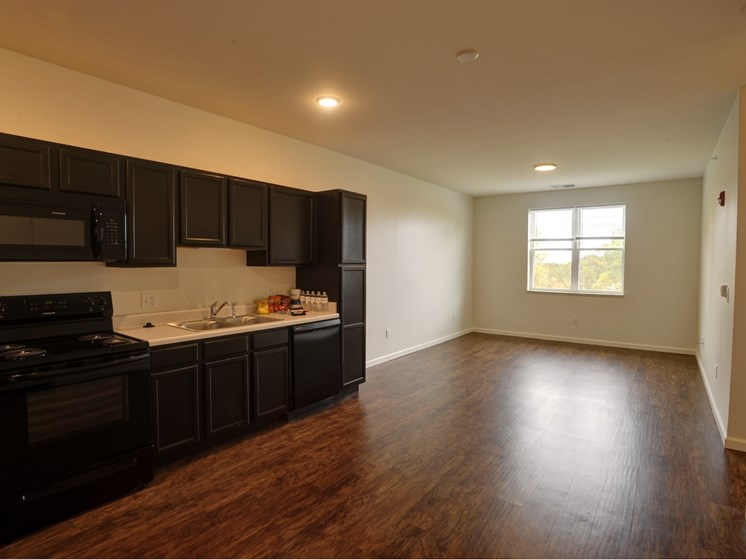 two and three bedroom kitchen union at crescent