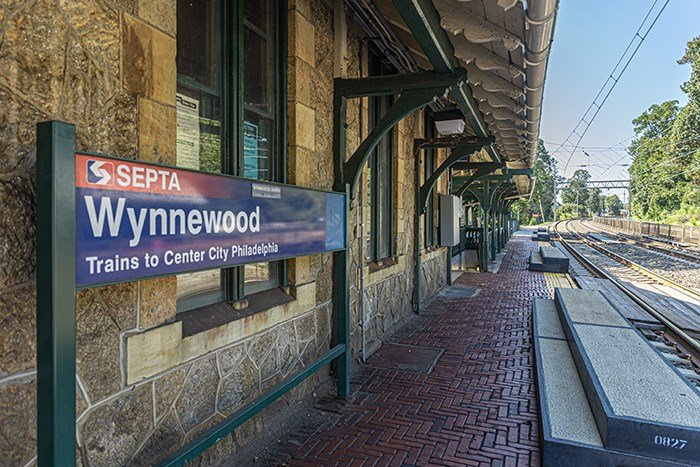 SEPTA train stop in Wynnewood, PA for easy commuting from The Palmer West