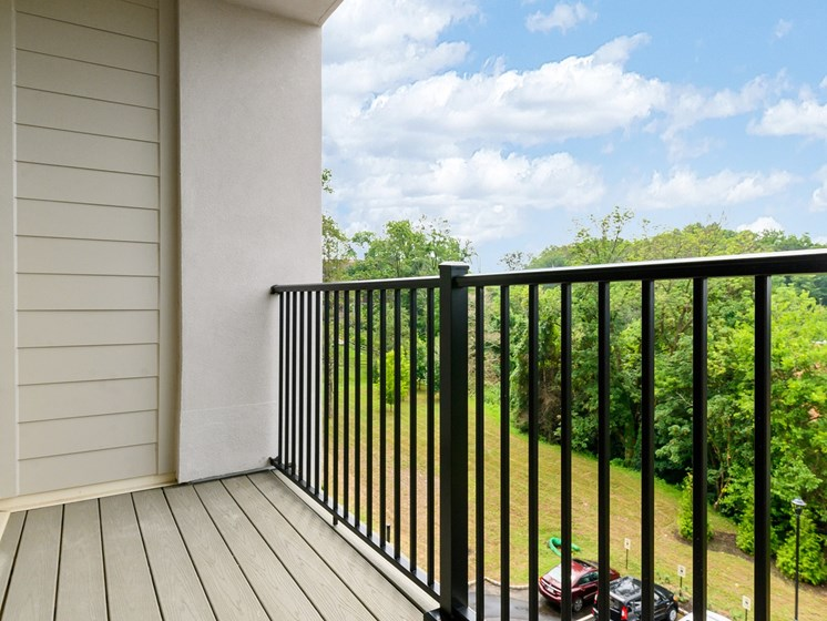 Private balcony sunny, scenic view in Wynnewood, PA boutique apartment for rent