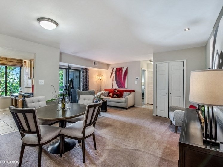 Separate Dining Area Off Living Room at Brookland Ridge Apartments, Washington, Washington