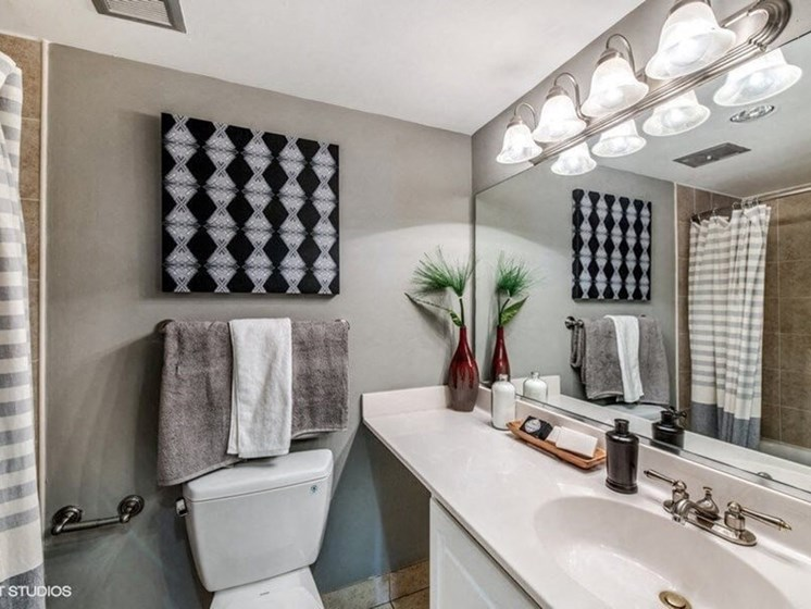 Bathroom Accessories at Brookland Ridge Apartments, Washington