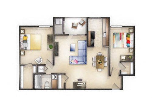 Floor plan at Brookland Ridge Apartments, DC, 20017