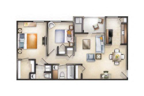 Floor plan at Brookland Ridge Apartments, DC