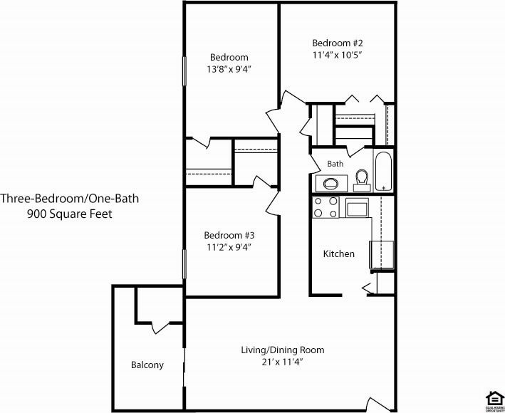 3 Bedroom Floor Plan 4