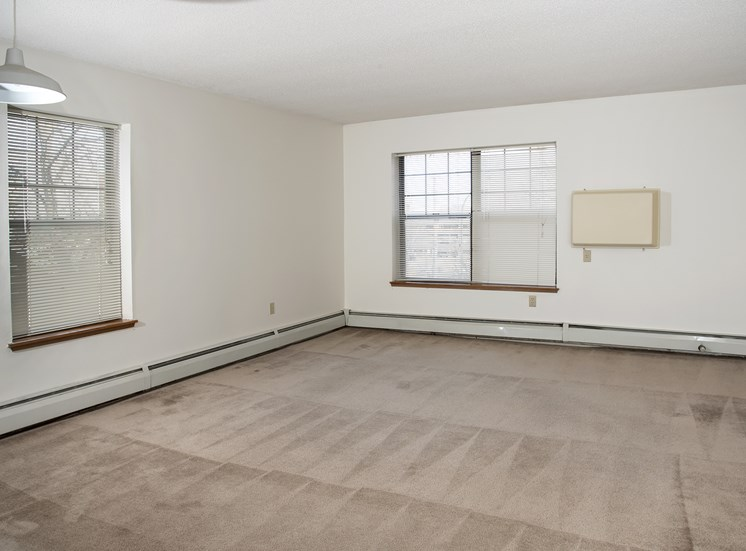 spacious Living Room with AC unit