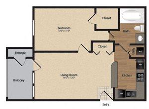 Spacious Magnolia Floor plan at Park Laureate in Jeffersontown, Louisville, KY 40220