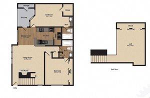 spacious red bud floor plan at Park Laureate in Jeffersontown, Louisville, KY 40220
