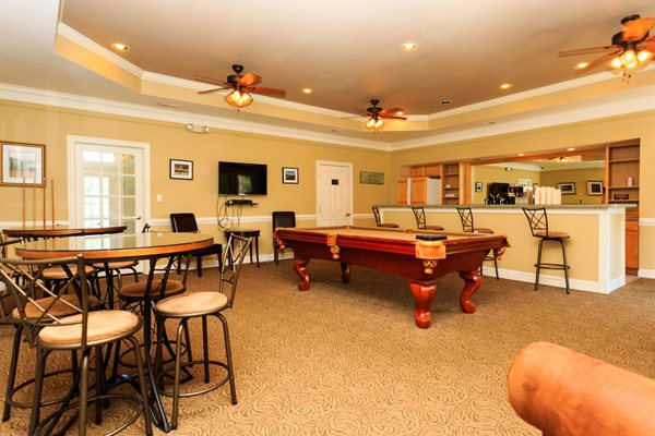Recreation Room with Billiards Table at Brittany Commons Apartments, Virginia, 22553