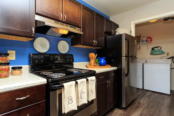 Fully Equipped Kitchen with Breakfast Bar at Brittany Commons Apartments, Spotsylvania, 22553