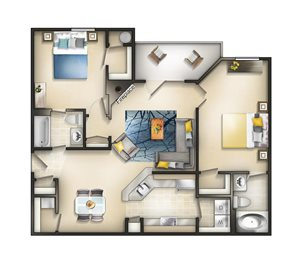 Floor plan at Brittany Commons Apartments, Spotsylvania, 22553