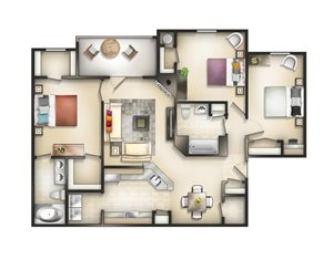 Floor plan  at Brittany Commons Apartments, Spotsylvania