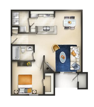 Floor plan at Brittany Commons Apartments, Virginia, 22553