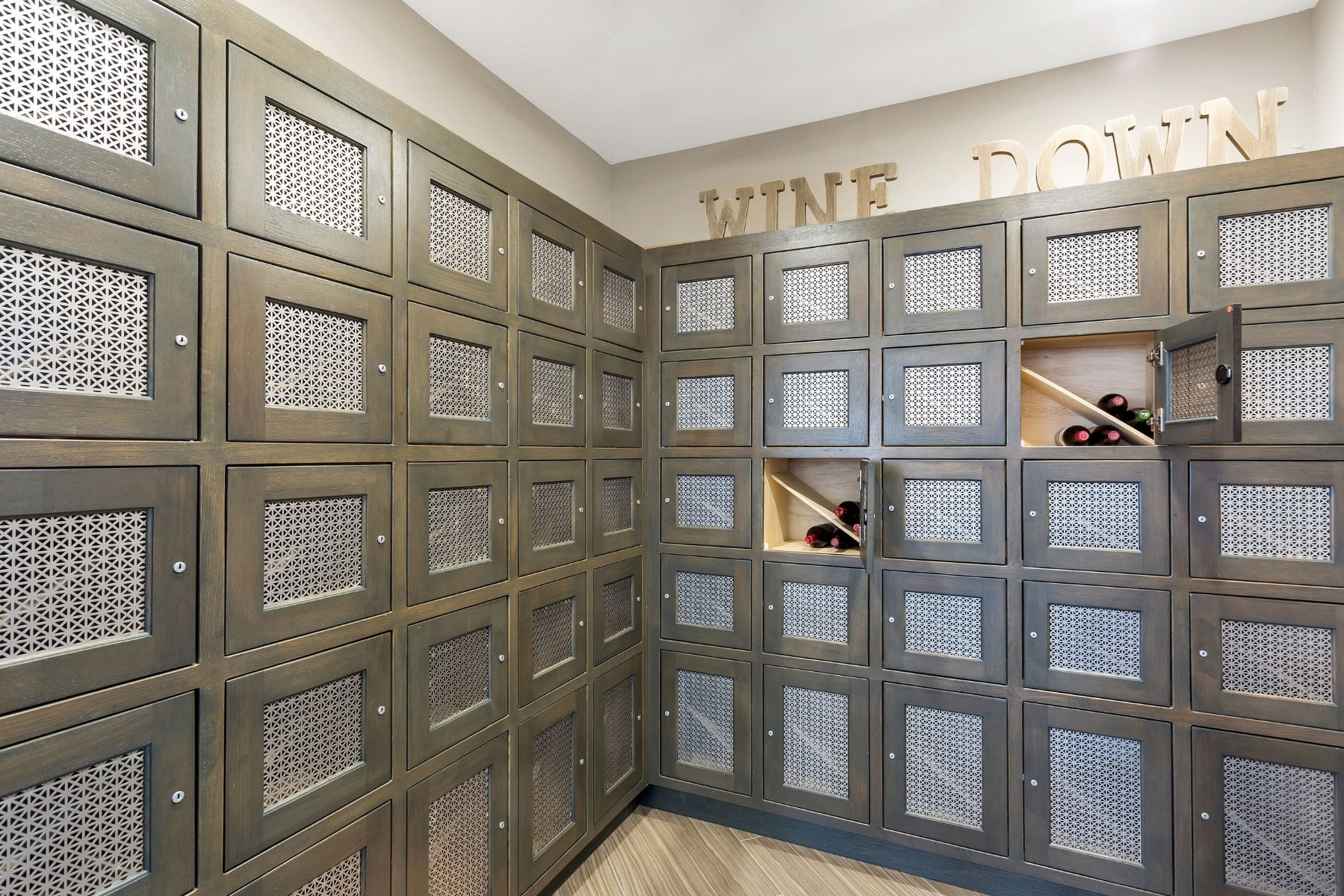 Westwood Green Apartments Clubhouse Wine Room with Lockers