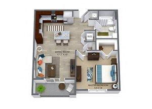 Westwood Green 1 bed 1 bath 688 sqft