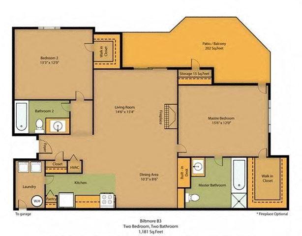 Biltmore | 2 Bedroom | 2 Bath | 1181 SF