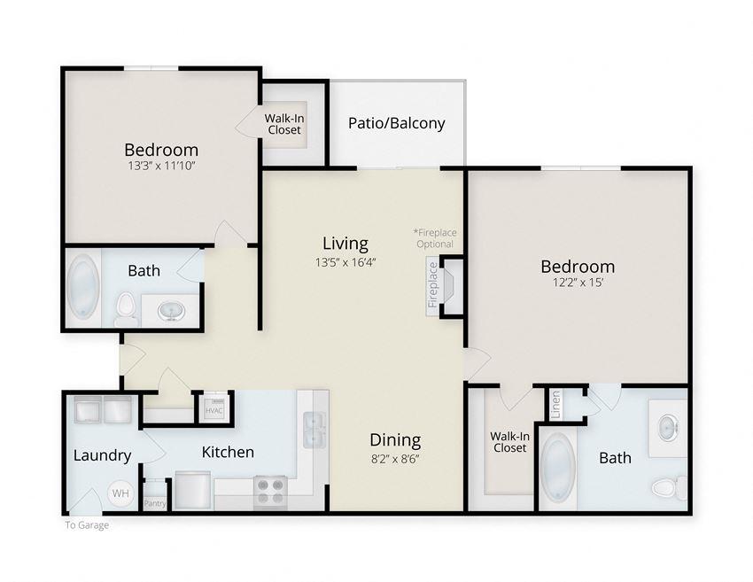 Cape Lookout | 2 Bedroom | 2 Bath | 1084-1155 SF