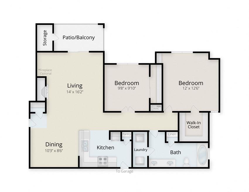 Hatteras | 2 Bedroom | 1 Bath | 956-1016 SF