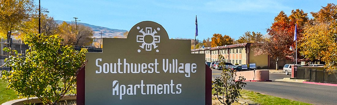 exterior sign_Southwest Village Apartments, Reno, NV