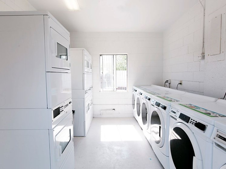 community laundry facility at Fort Lowell Canyon Apartments in Tucson AZ