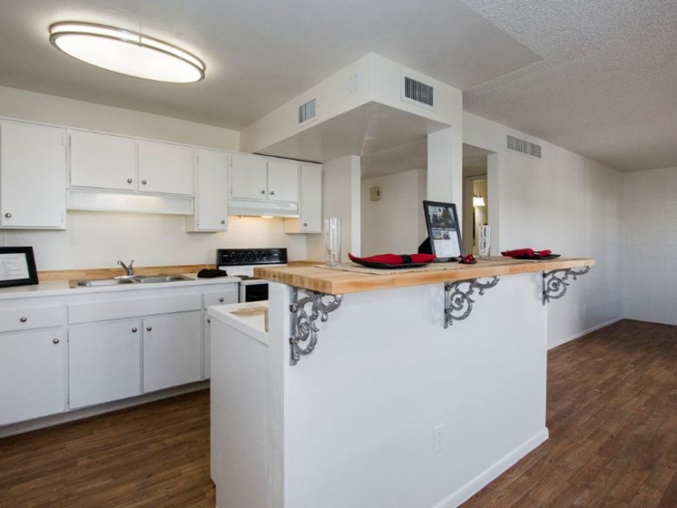 kitchen at Fort Lowell Canyon Apartments in Tucson AZ