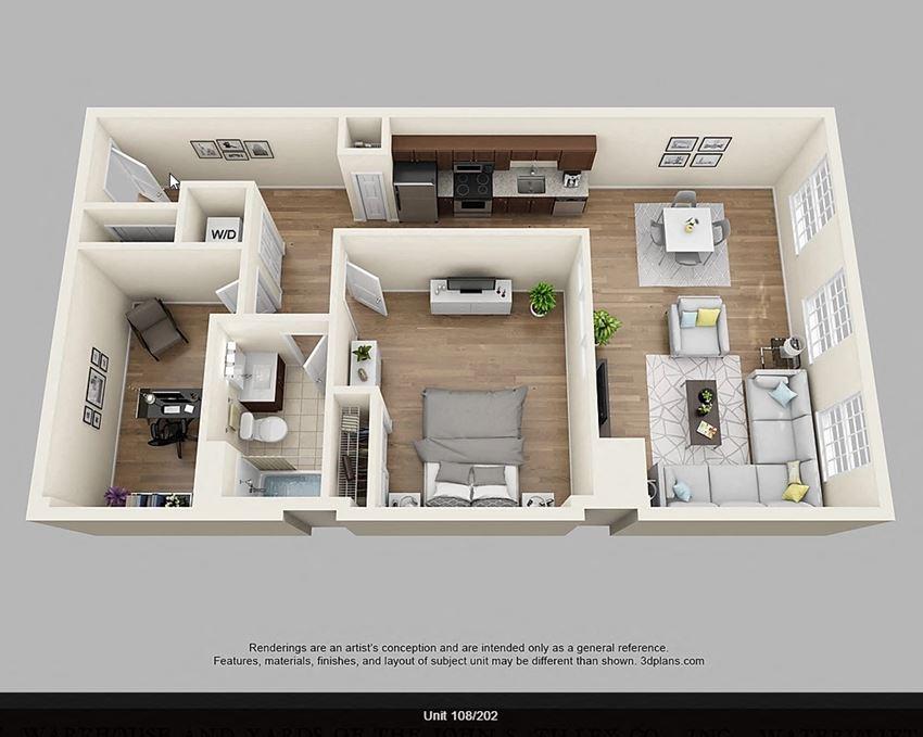 1 Bedroom with Den - S