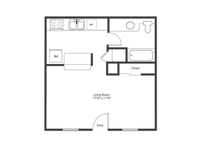 Solstice Studio Floorplan