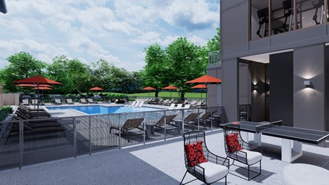 The Bryant Apartments | Outdoor Game Room