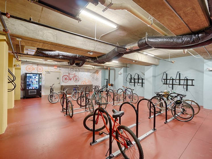 Indoor Bike Storage & Repair Station at Park 35 on Clairmont Apartment Homes, 3500 Clairmont Ave. Birmingham, AL 35222