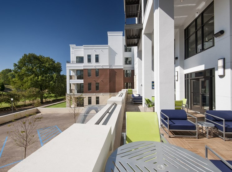 Relaxing Outdoor Patio with Conversational Areas and Entertaining Spaces at Park 35 on Clairmont Apartment Homes, 3500 Clairmont Ave. Birmingham, AL 35222