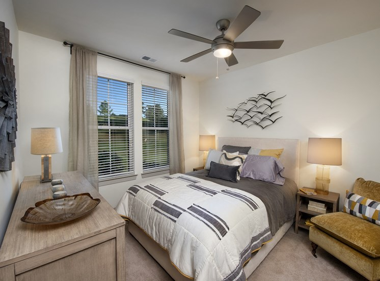 Guest Bedroom Feels Large and Spacious Bedrooms with Expansive Closets at Park 35 on Clairmont Apartment Homes, 3500 Clairmont Ave. Birmingham, AL 35222